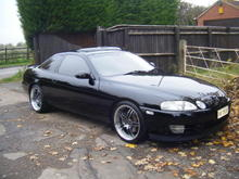 this is my soarer 2.5 gt twin turbo,black on black,had it for 2 yrs and is mint,only used in the summer or nice dry days
