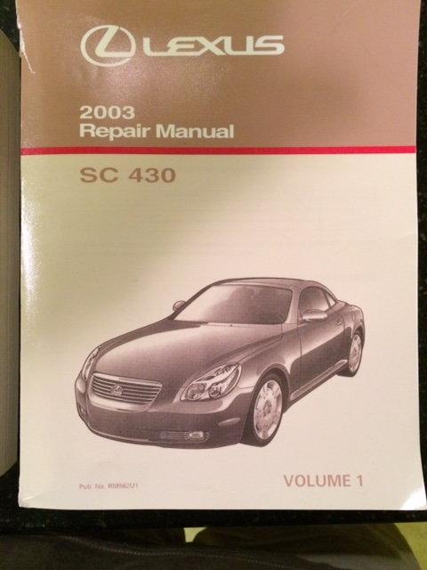 lexus sc430 service manual