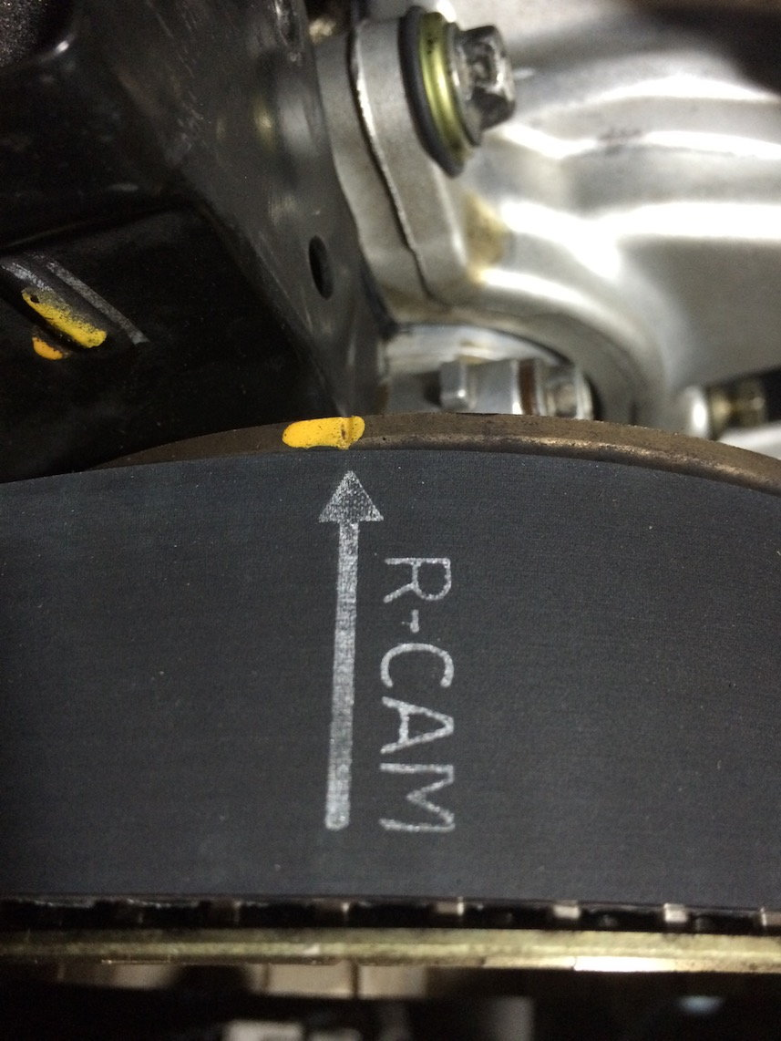 Banshee365s Ucf20 95 97 Timing Belt Diy Clublexus Lexus Forum 1999 Ls Right Cam Mark Lined Up With The Notch In Pulley They Do Not Line Rear Plate Because Crankshaft Is Set 50