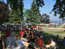 Crowd stuck around for Lotus Shaker