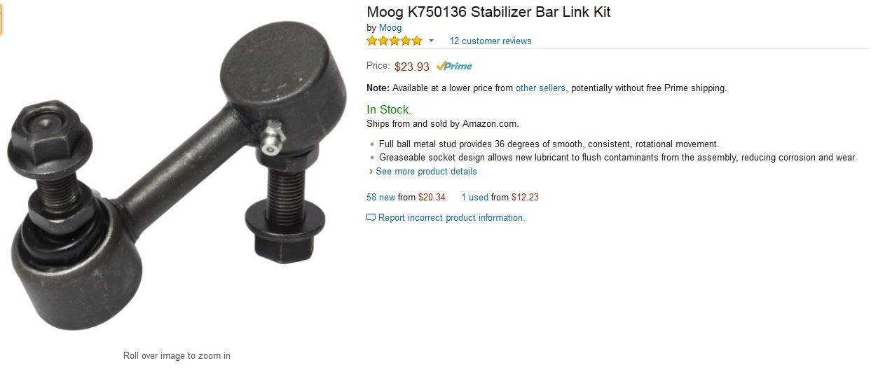 Moog sway bar endlinks - CorvetteForum - Chevrolet Corvette