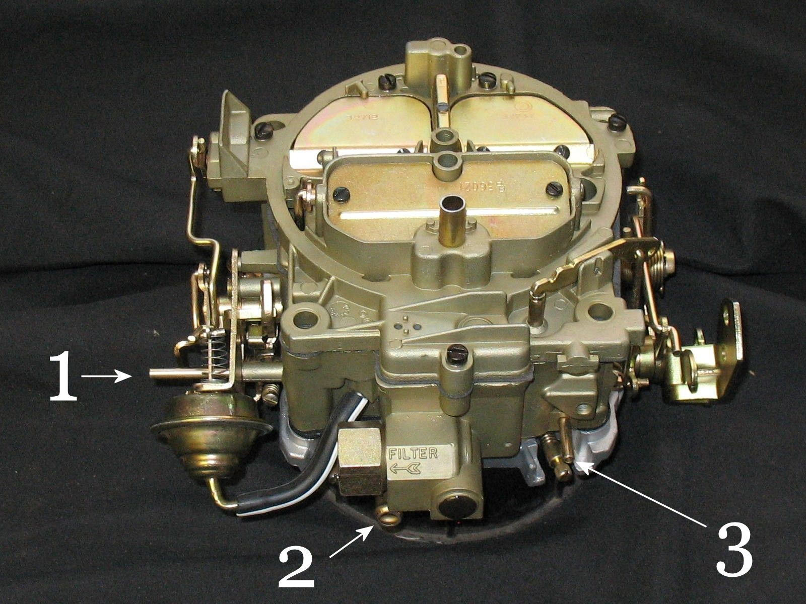 1113981 1979 F 150 Wiring Diagram furthermore Watch further Motorcraft 2150 carburetor furthermore 3953228 Ports On Quadrajet 4mv furthermore 1365351 Installing C6 Rebuilt Transmission Crossmember Problems. on 4 barrel carburetor diagram 350