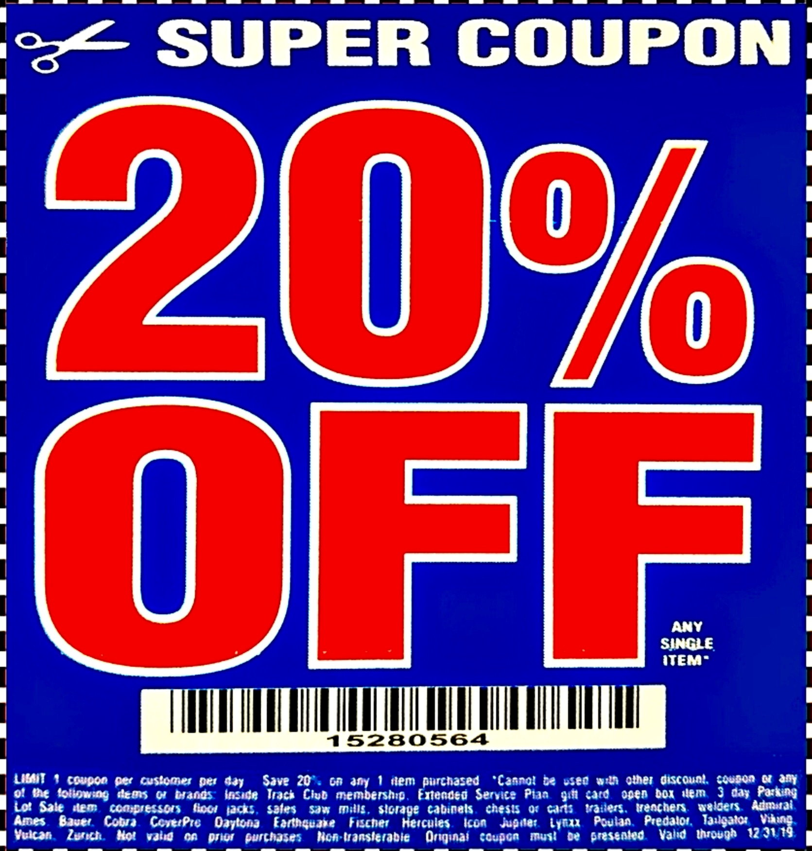 It is a picture of Nifty Printable Harbor Freight 20 Off Coupon