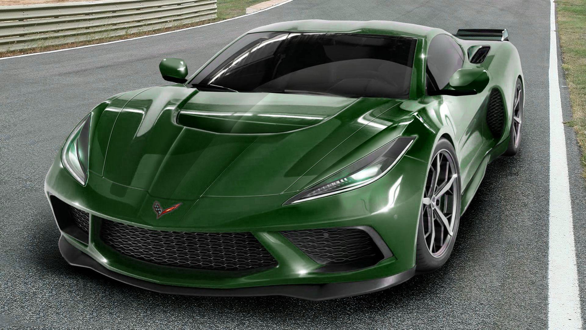 2020 c8 - mid engine corvette - best guess renderings
