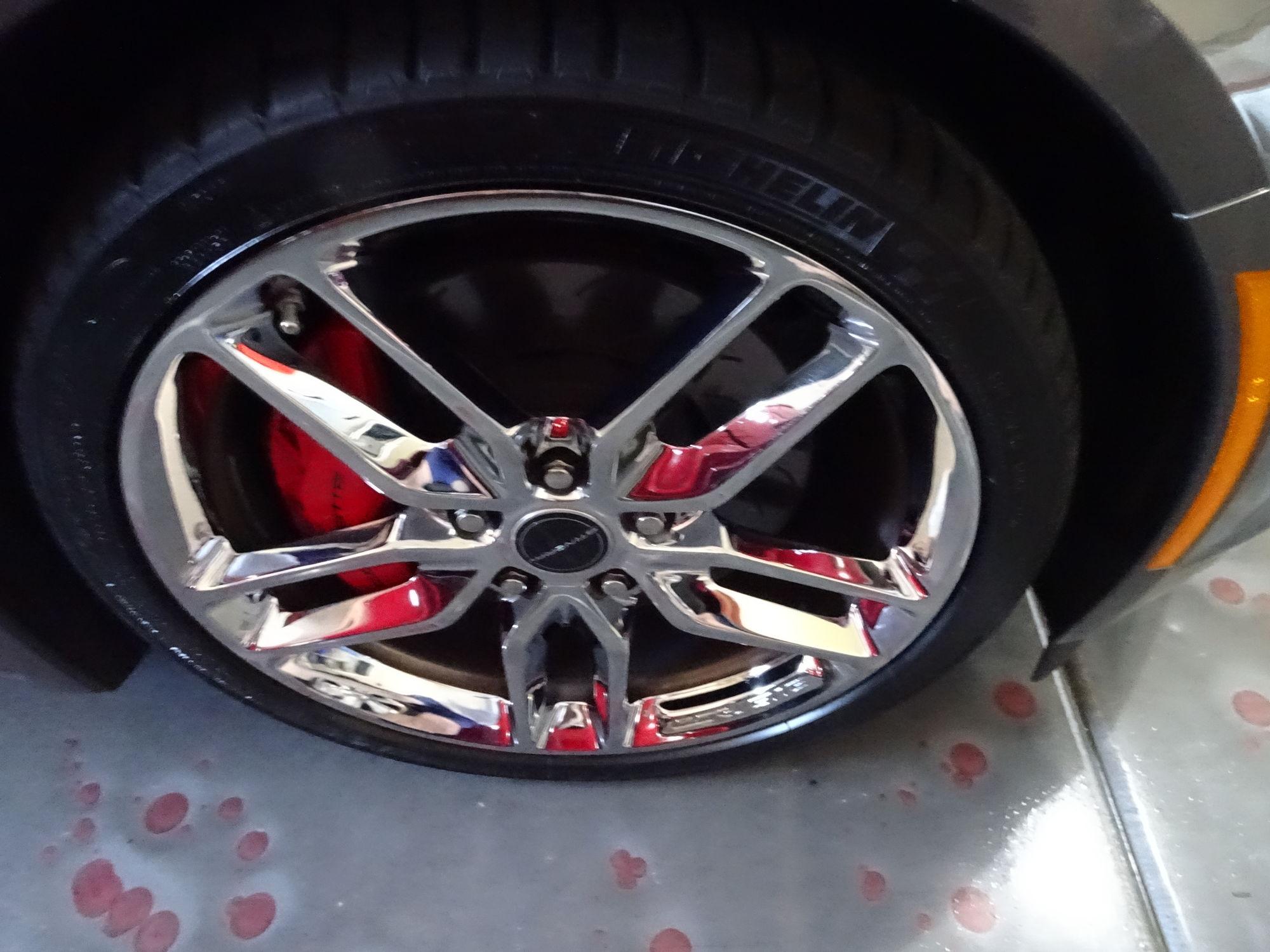 All 4 Split Chrome Z51 Wheels pitted CorvetteForum Chevrolet
