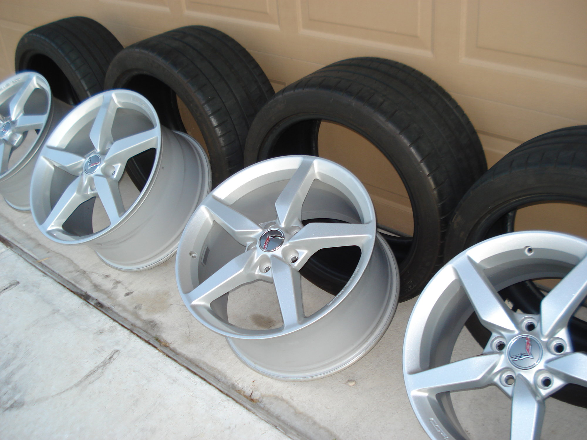 FS (For Sale) C7 wheels & tires (like new) tx
