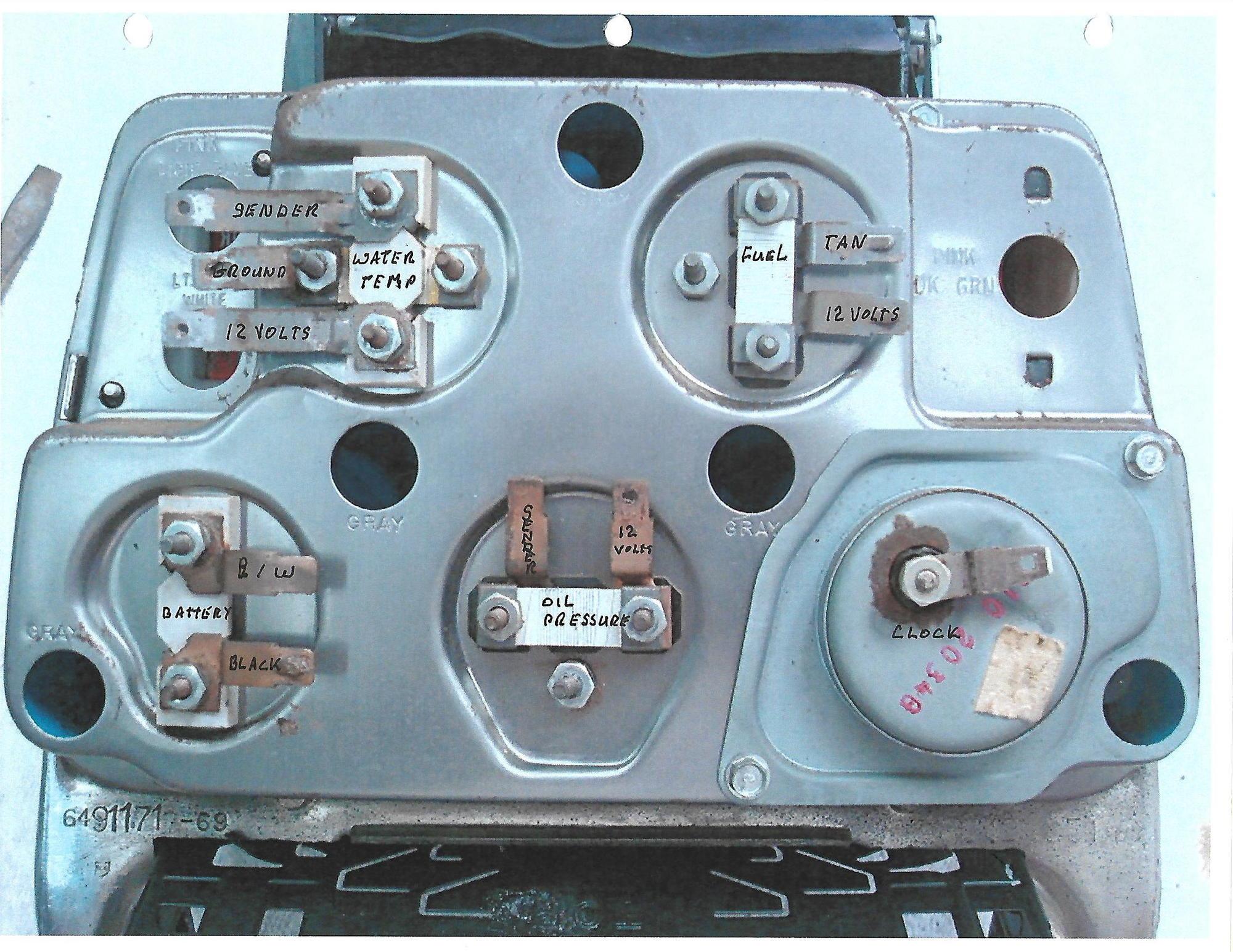 Instrument Panel Wiring Harness Diagram 1970 Corvette - Corvetteforum