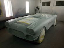 More of the paint booth