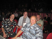"""Benny, Earl, Ted, and Roger, at the Crazy Horse in the MGM Grand. This is where """"Beer Pockets"""" was born. That is the edge of the stage at the lower left. Vegas NASCAR party weekend 2008."""