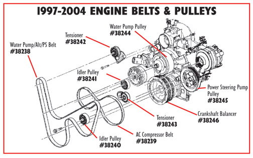Enginebelts Pulleys A D B Ca Adc Df F F Bc B Dad F on Idler Pulley Diagram For Corvette