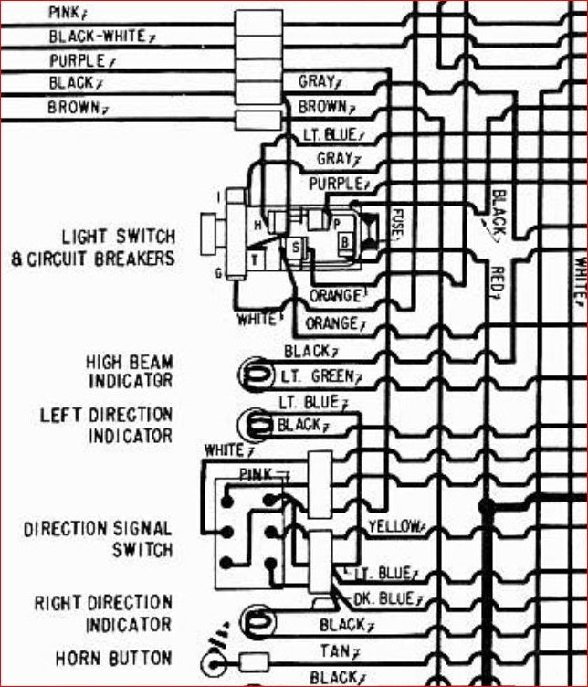 C1 1957 Headlight Switch Wiring Picture