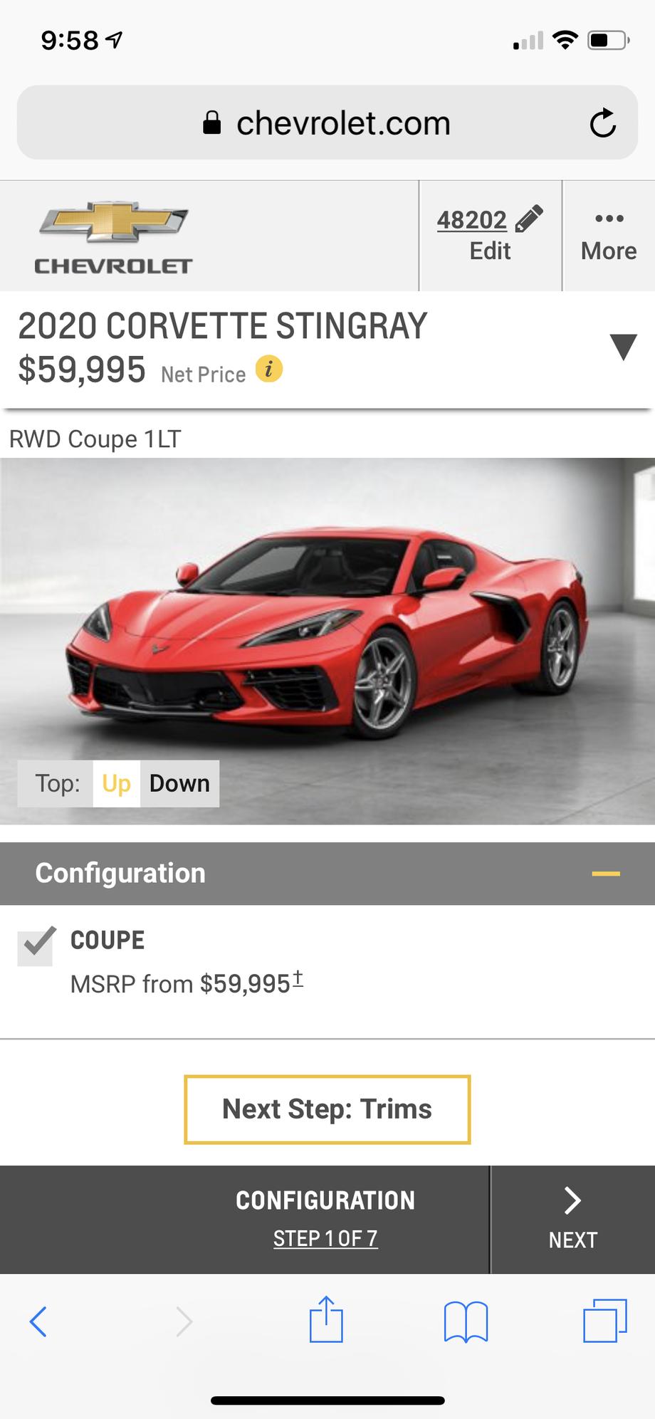Chevy Build And Price >> Chevy Com Build Price Now Active Corvetteforum