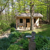 Marigold Cottage at the edge of the forest.