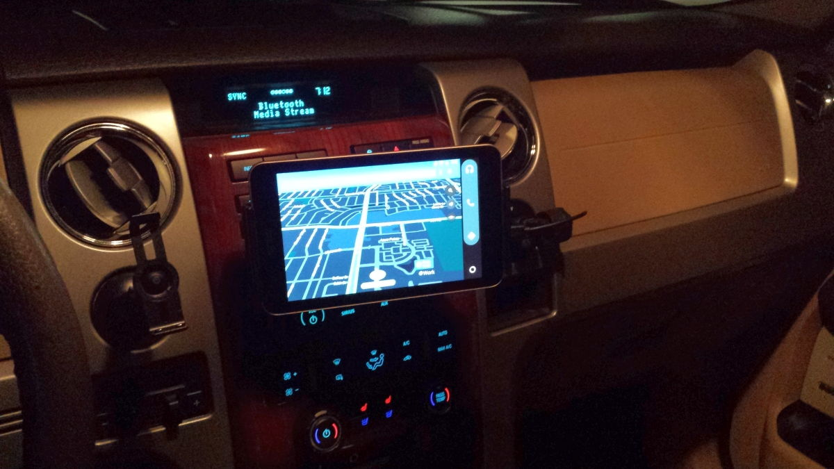 android auto with tablet in older 2009 ford f 150 how to ford f150 forum community of ford. Black Bedroom Furniture Sets. Home Design Ideas