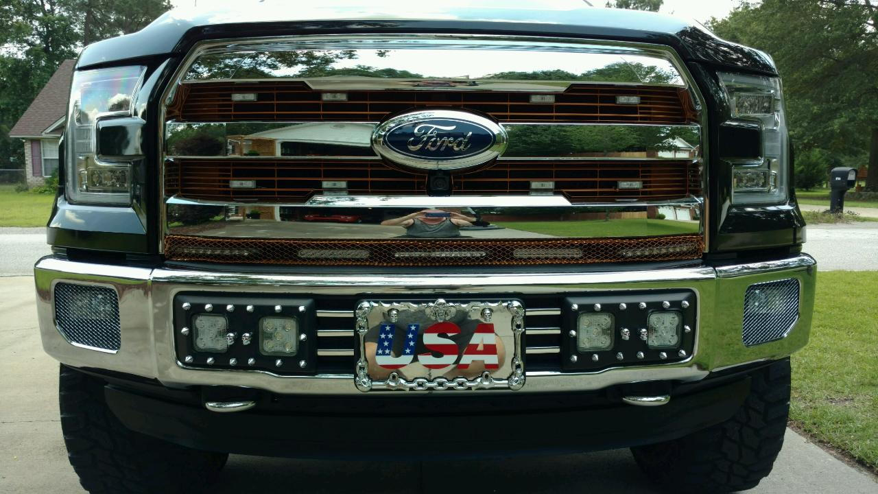 Flush mount Led lights on front bumper Page 2 Ford F150 Forum