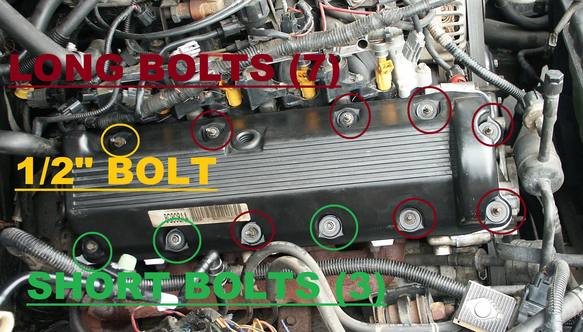 1999 Ford F150 Valve Cover Bolt Placement And Torque