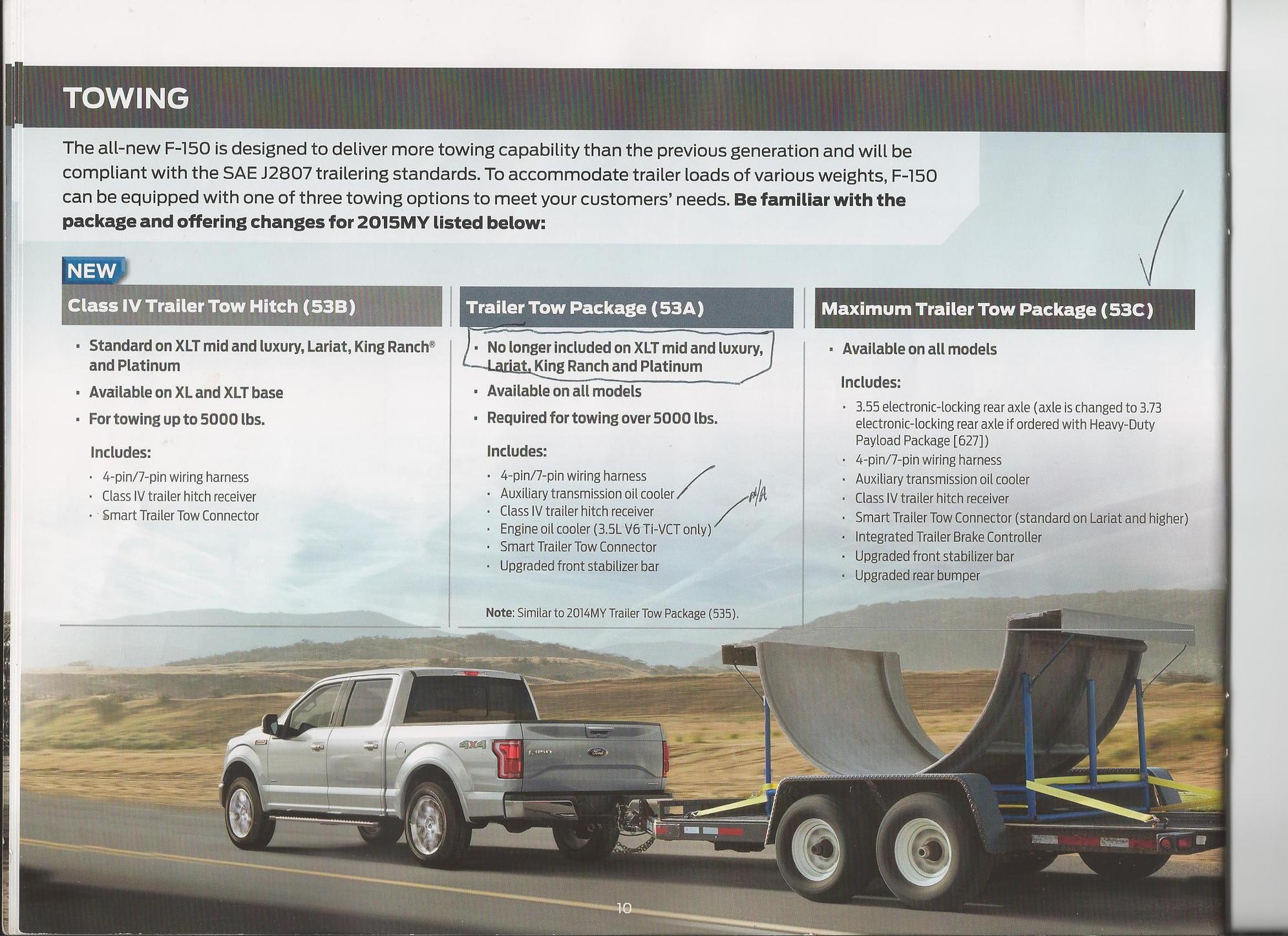 trailer tow wiring w 4 pin connector transmission oil cooler 14 17trailer tow pkg vs max trailer tow pkg ford f150 forum community rh f150forum com