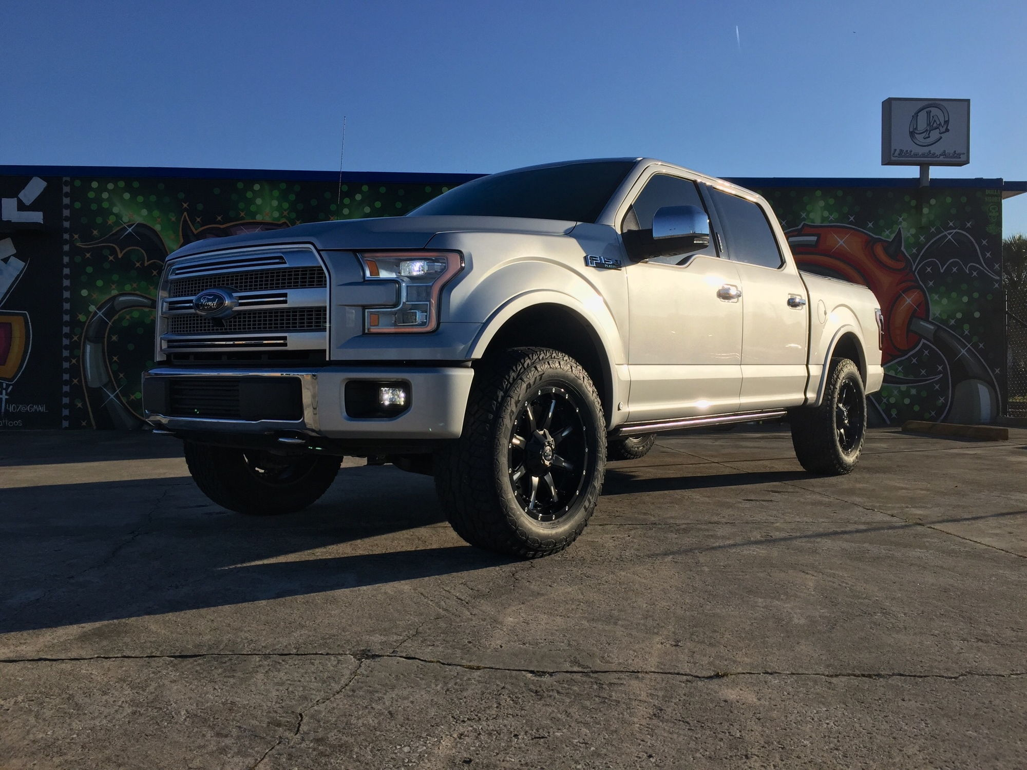 my leveled 2015 f150 platinum ford f150 forum community of ford truck fans. Black Bedroom Furniture Sets. Home Design Ideas