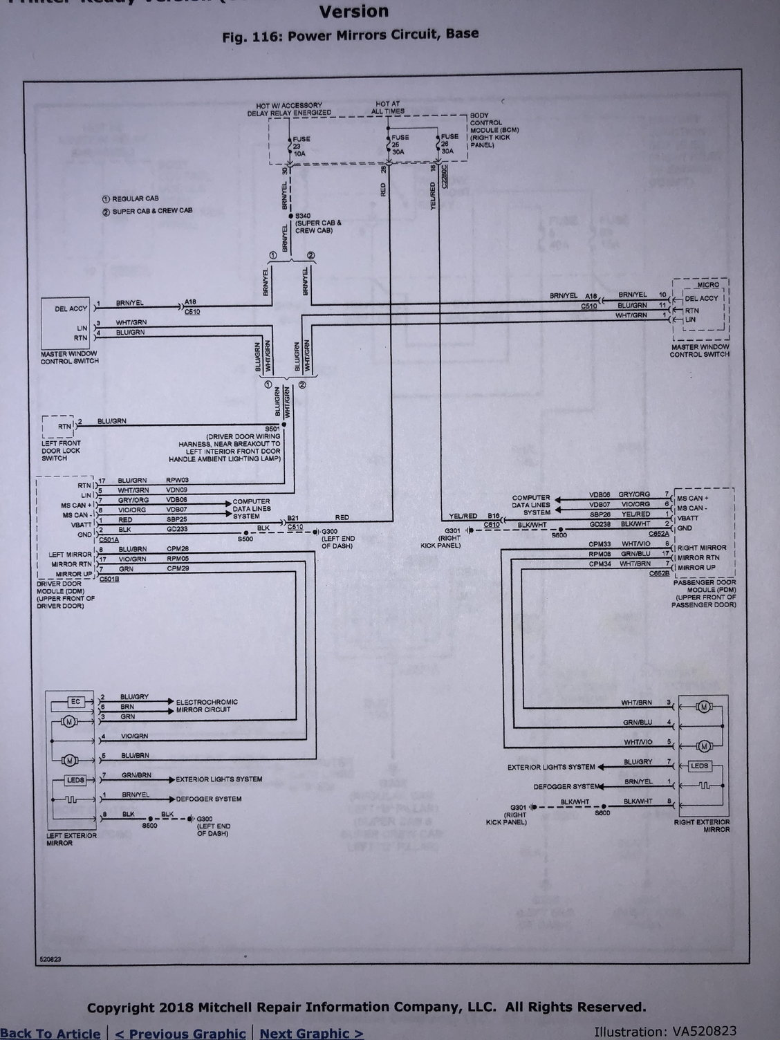 Auto Dimming Mirrors Ford F150 Forum Community Of Truck Fans Wiring Diagram For 2006 Harness In Drivers Side Dash My Notes Not Clean But Has All The Info 2018 Xl Diagrams Are A 2017 Since They Havent Released To New Drawings Yet