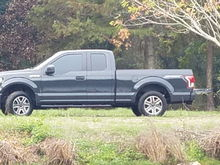 "2.5"" Level, Gray 18"" Stocks from another F-150, 33"" Dick Cepek fun country."