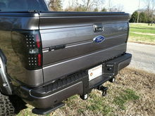 Painted tailgate badge and Rigid Industries Dually-LED Flood Lights