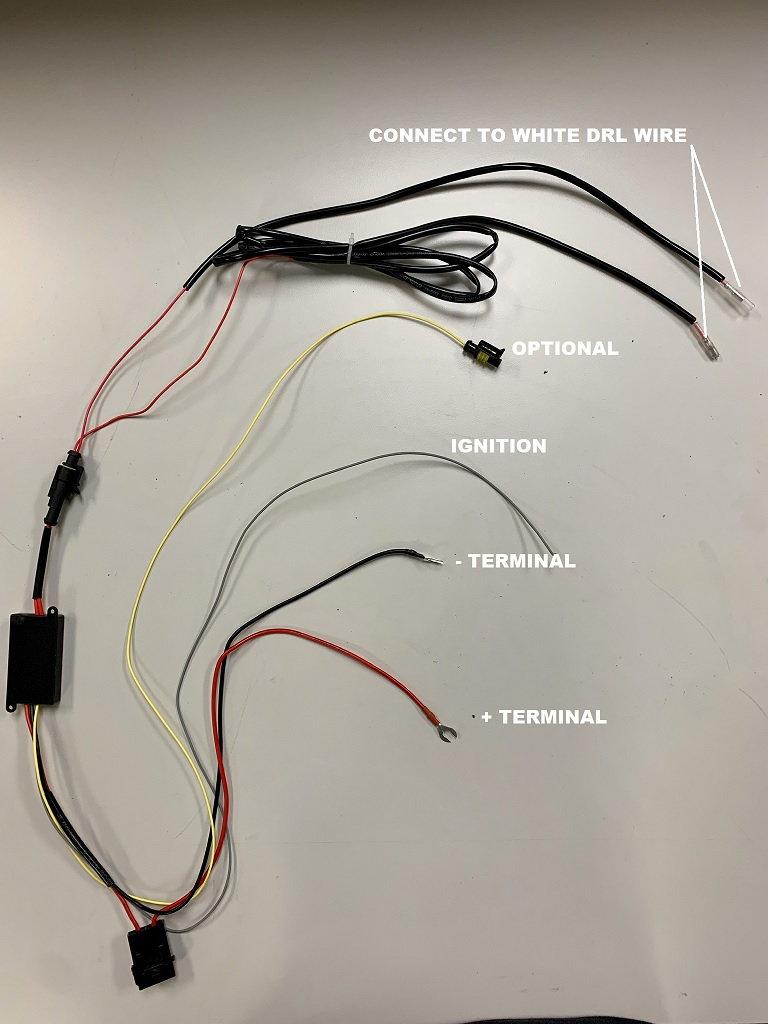 RacerInnovation LED Tube Polished Black Dual Projector