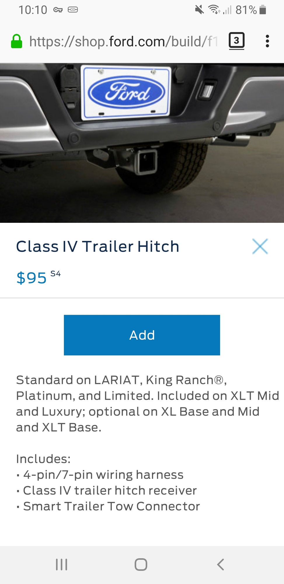 Class Iv Hitch >> Towing Package (Or Lack Thereof) And The Dealer Makes It Right - Page 2 - Ford F150 Forum ...