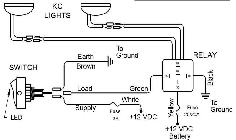 kc slimlites wired to upfitter switches help ford truck here is the diagram that was included the lights
