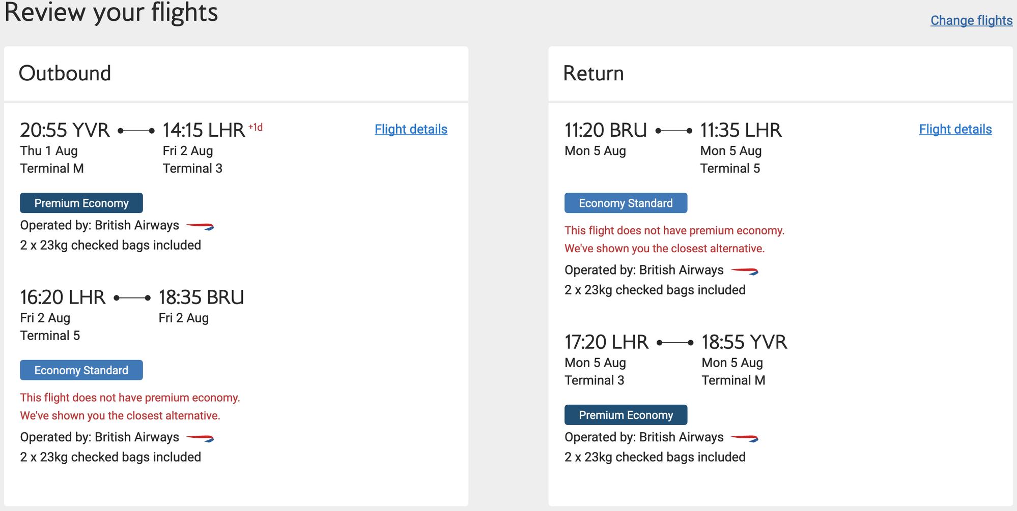 Find me a good British Airways fare - ticket clinic [Beta