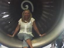 aucarol leaving IN a jet plane