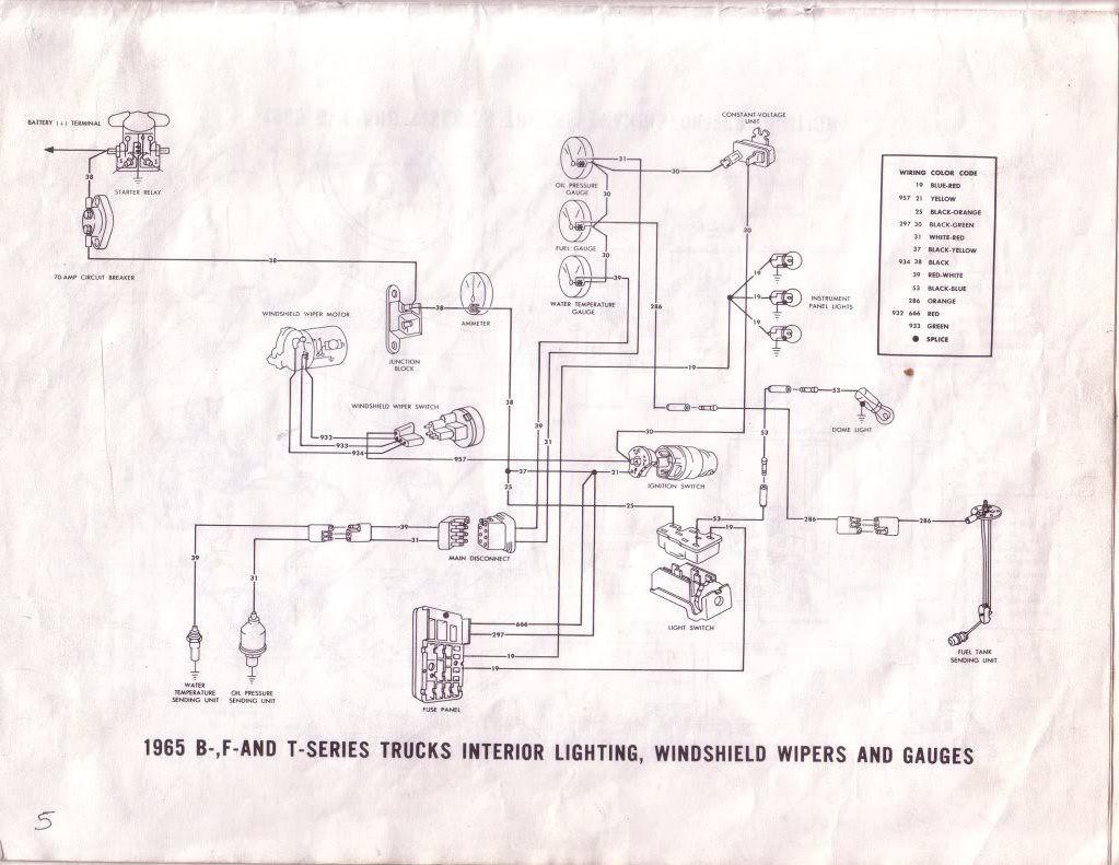1965 F 100 Alt Gauge 70 Amp Circuit Breaker Ford Truck