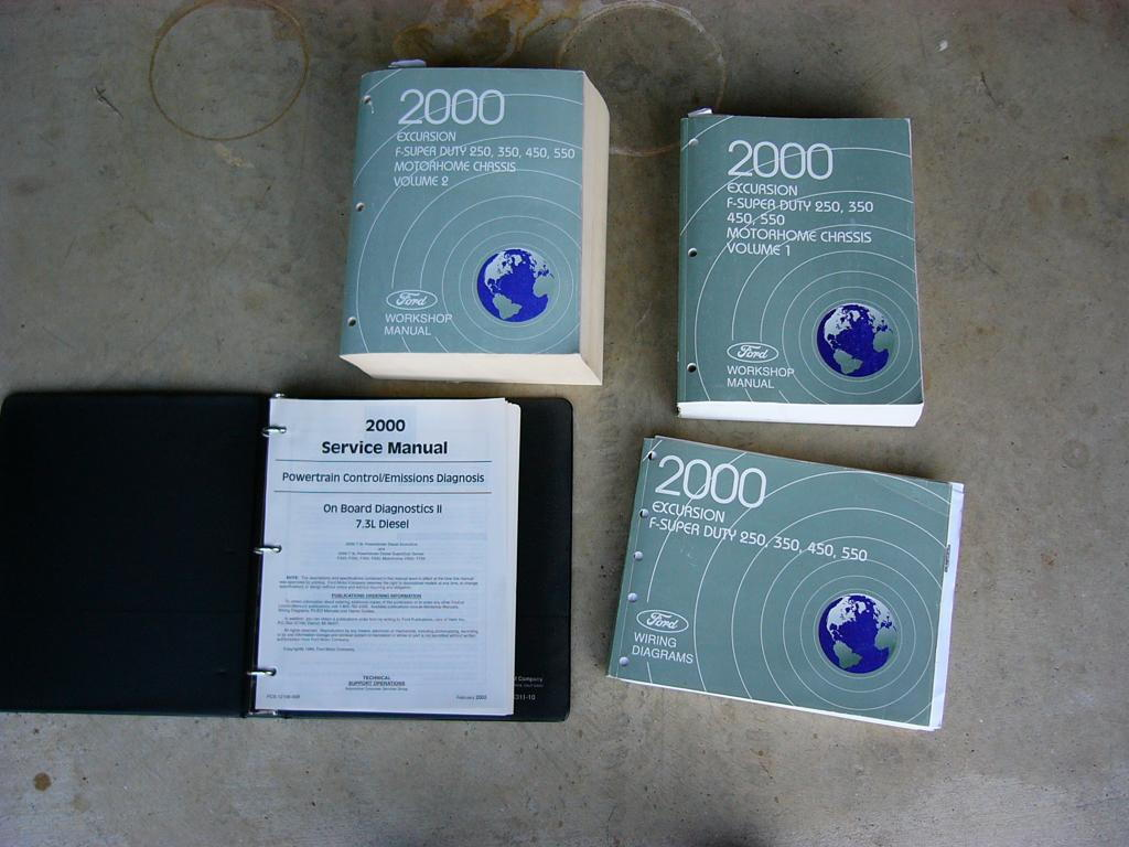 2000 F250 Service Manuals and Owner Guides w/Diesel Supplements ...