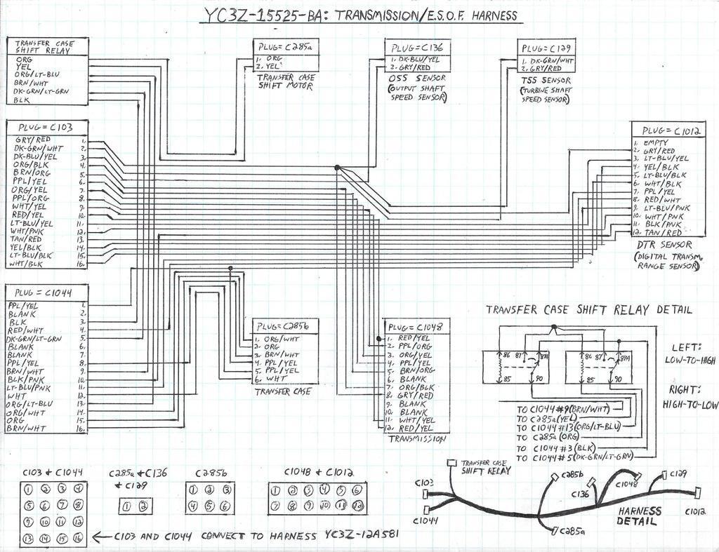 2000 F250 Transfer Case Wiring Diagram Diagrams 95 Ford Super Duty F350 V10 Transmission Range Selector 1999 Trailer