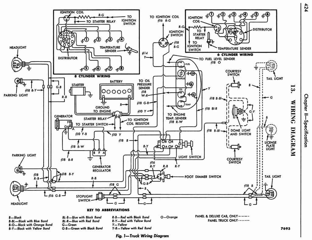 truck 12 volt wiring diagram 1953 ford