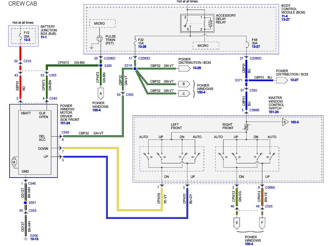 2011 F350 window power problem - Ford Truck Enthusiasts Forums | Ford F 350 Power Window Switch Wiring Diagram |  | Ford Truck Enthusiasts