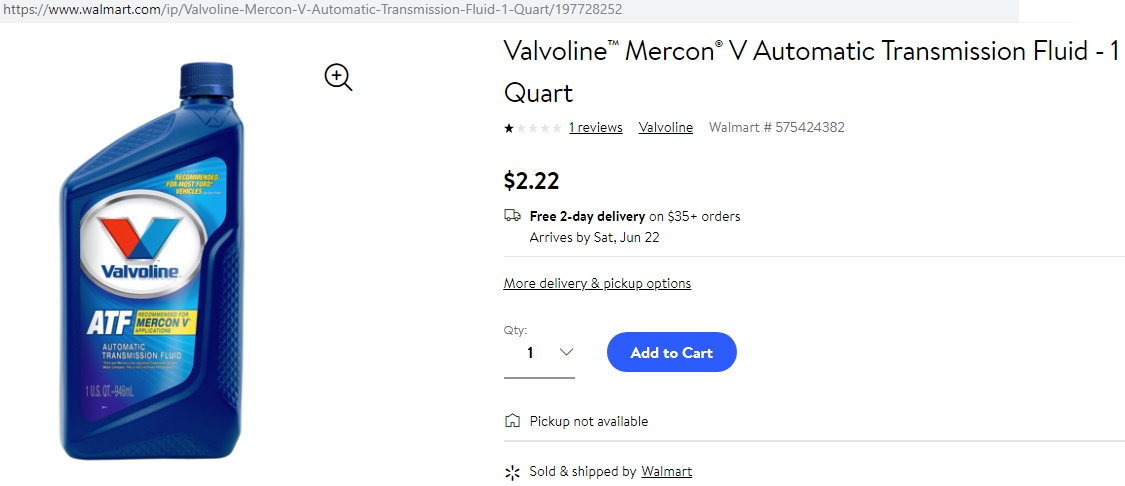 $2 22 quart Mercon V - Ford Truck Enthusiasts Forums