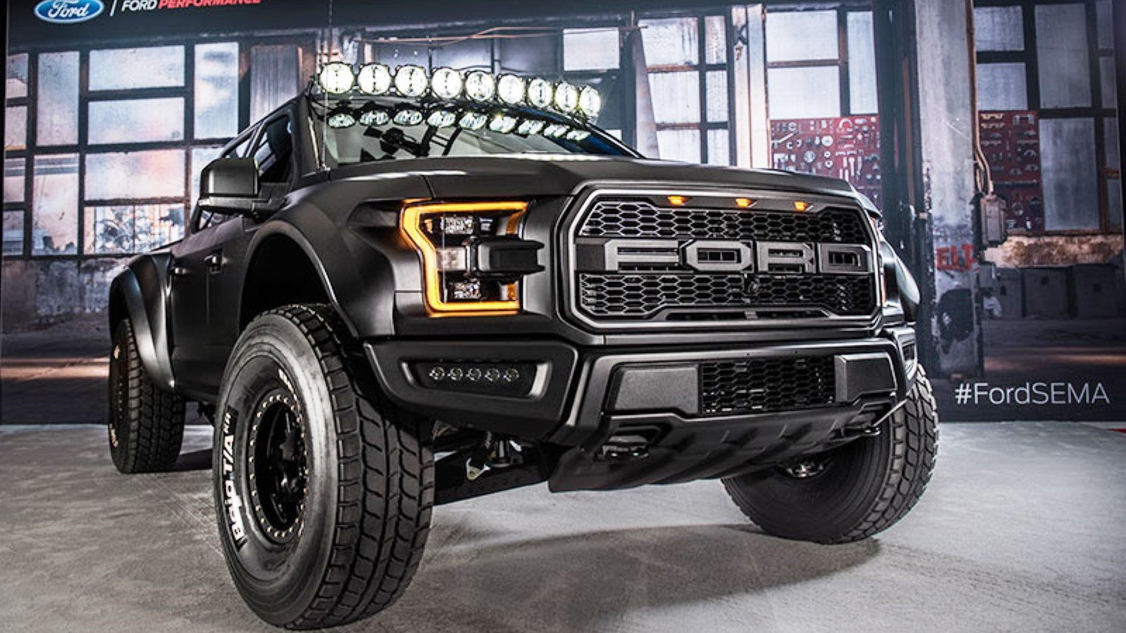 9 best ford trucks from sema 2016 ford truck enthusiasts forums. Black Bedroom Furniture Sets. Home Design Ideas
