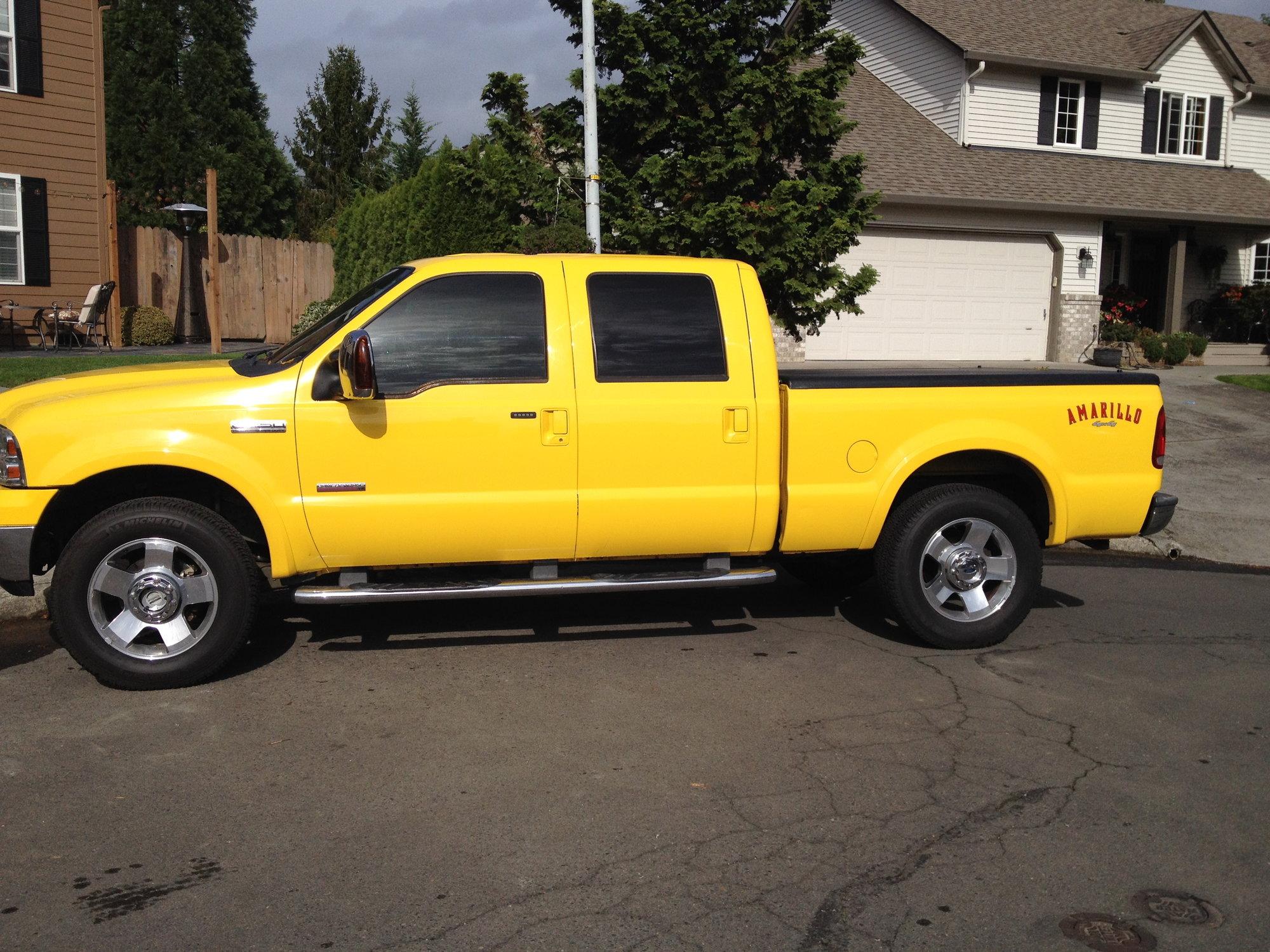 2006 F250 Amarillo Crew, Blazing Yellow Beauty - Ford ...
