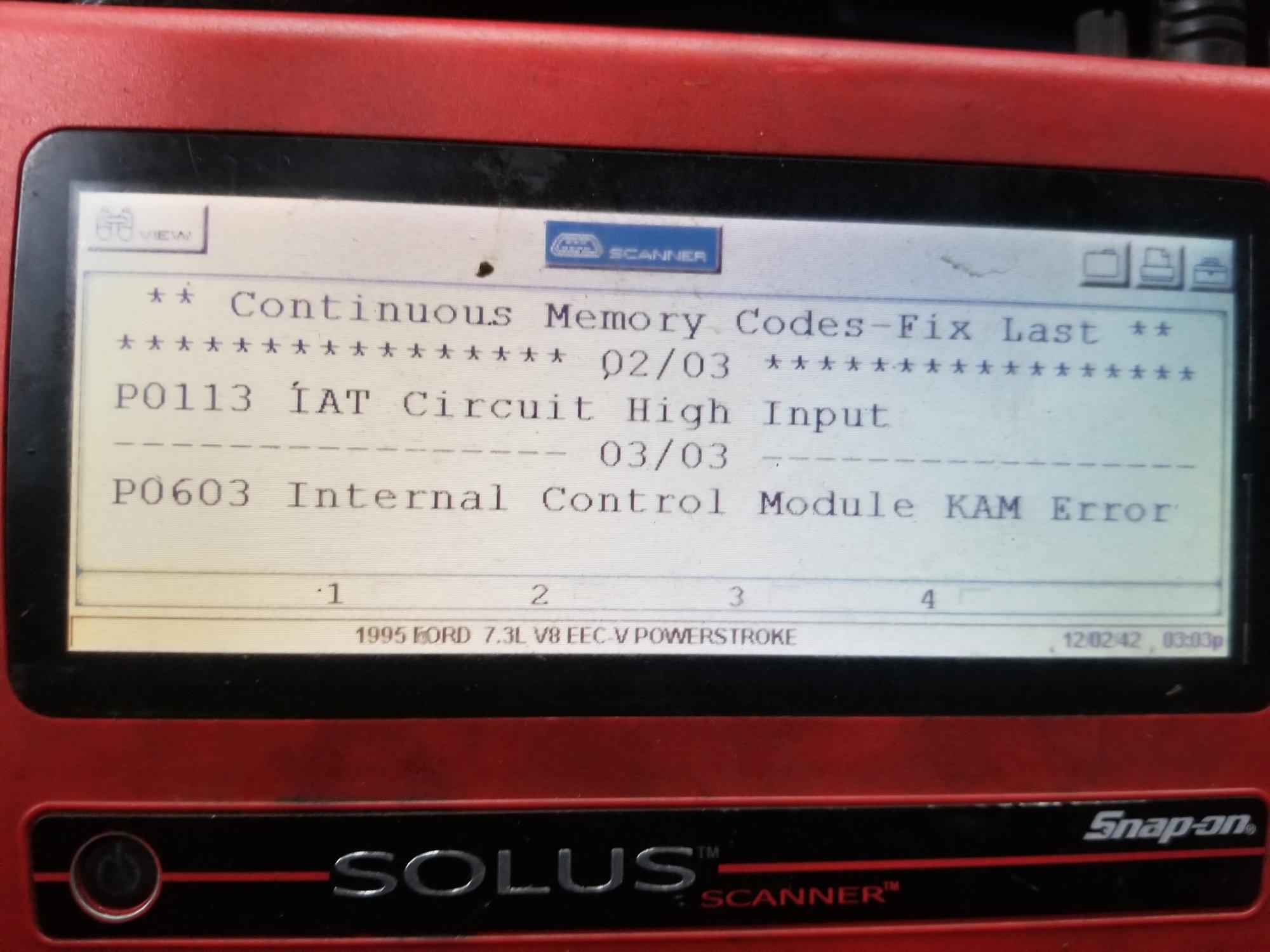 P0603 7 3 fix | SOLVED: 2000 F  2019-03-21