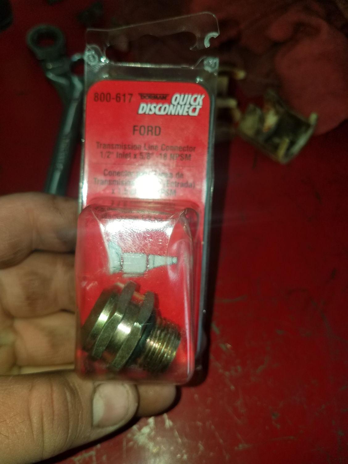 Automatic transmission cooler line connectors-9515
