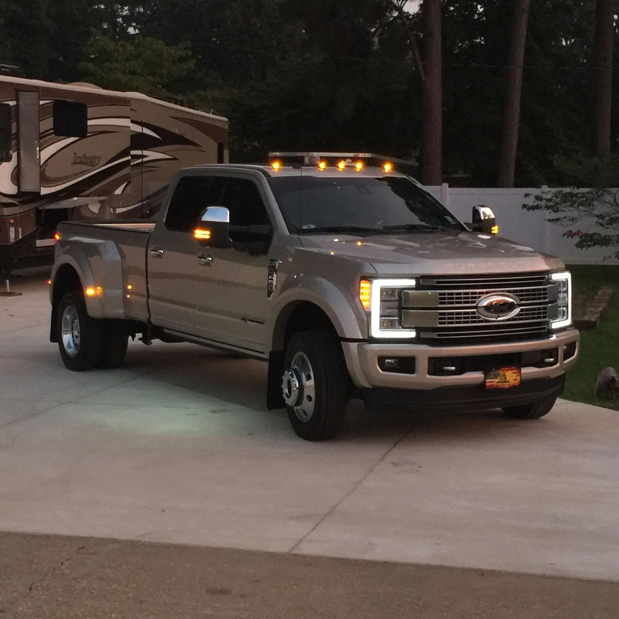 Truck Platinum: White Gold F-450 Platinum Delivered