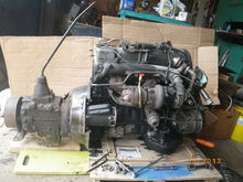 Mercedes 3,0 liter 5 cyl turbo diesel mated to Warner T9 4-speed