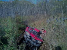 """My buddy makin sure I am really stuck. 27"""" mudlite xtrs still couldnt do it"""