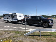 2018 F350 & 2018 Jayco Jayfeather 25BH on the way home from Lake George