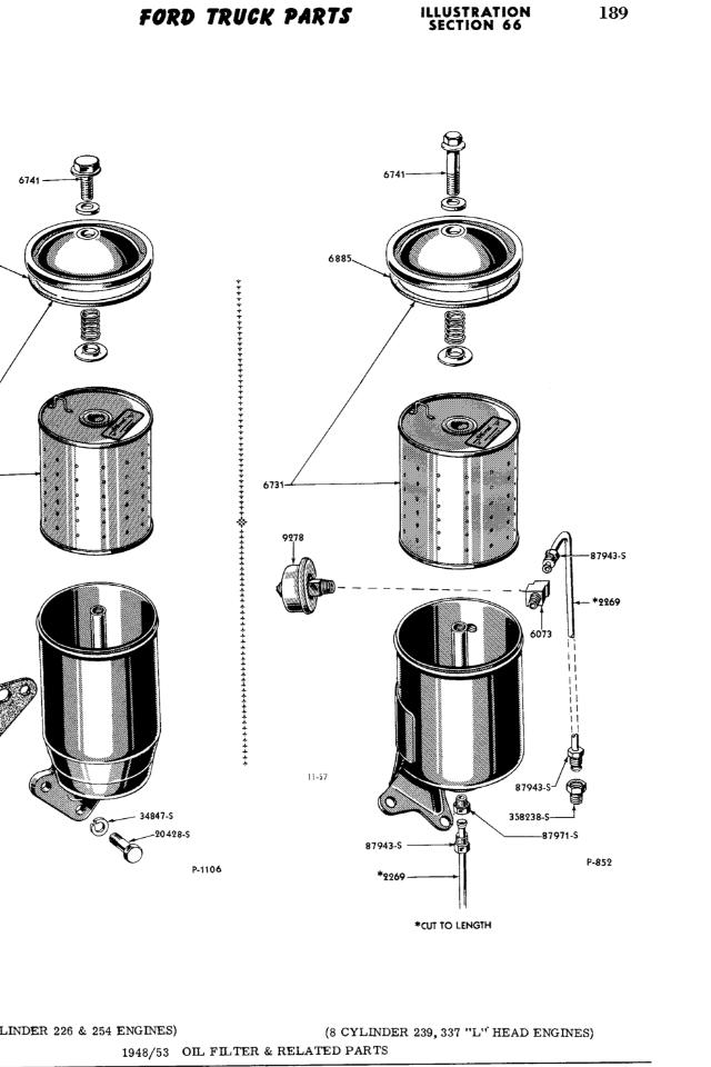 Oil Filter Lines Pressure Sensor 239 Ford Truck
