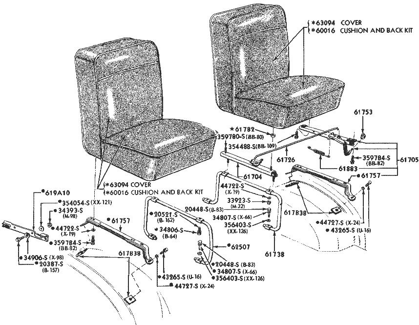 1961 econoline pickup seats
