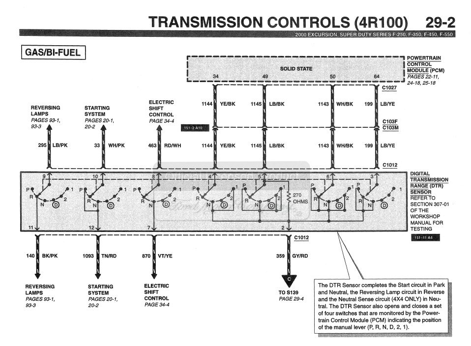 Need Wiring Diagram For 2000 5 4 Engine And Automatic Transmission
