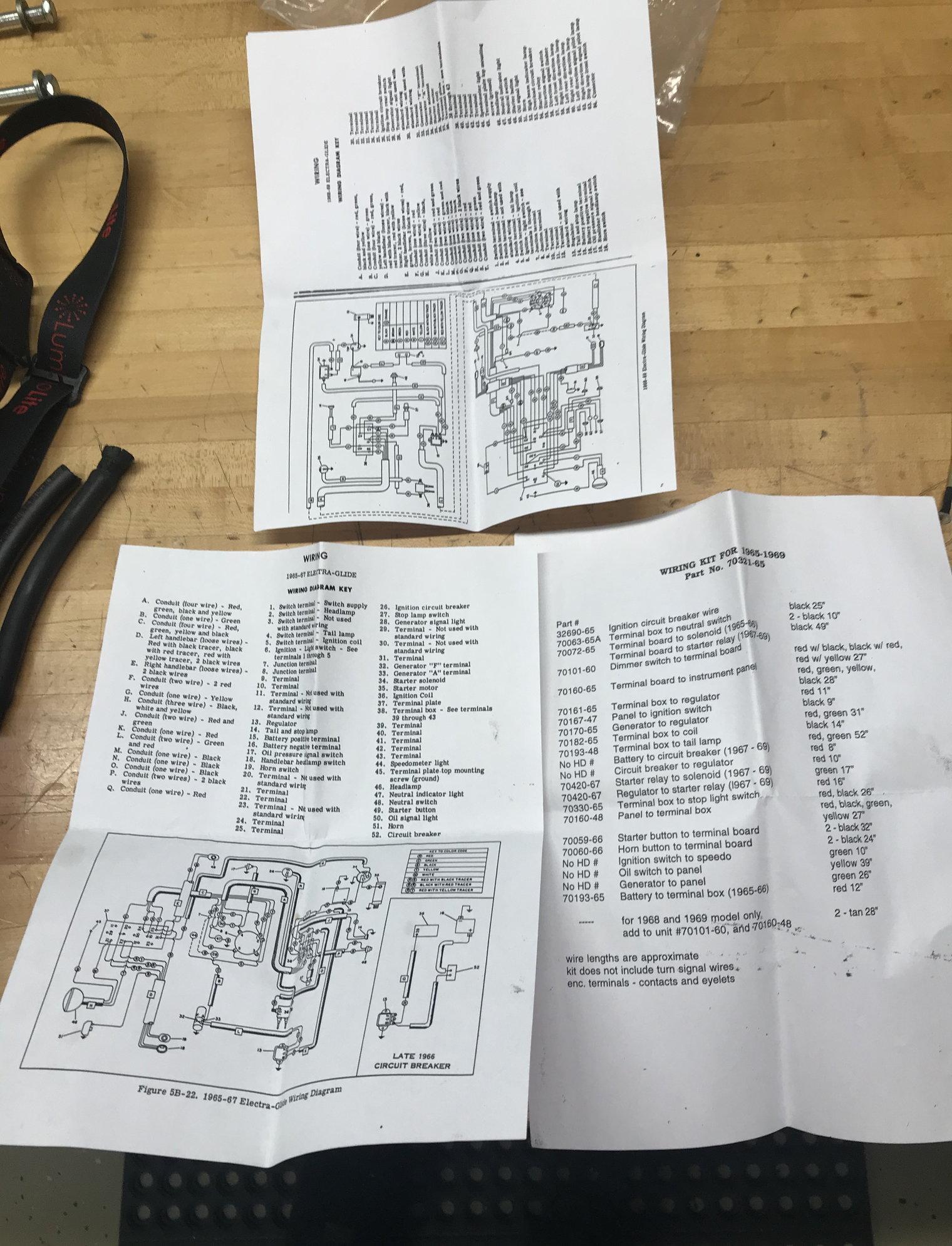 U0026 39 65- U0026 39 69 Flh Wiring Harness Kit