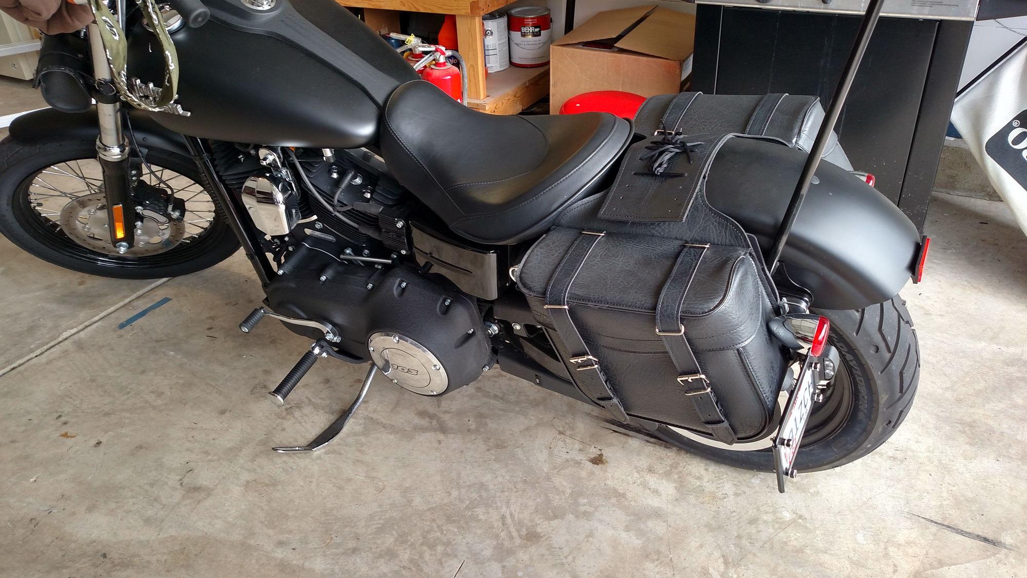 15 Street Bob Saddlebags Finally Harley Davidson Forums