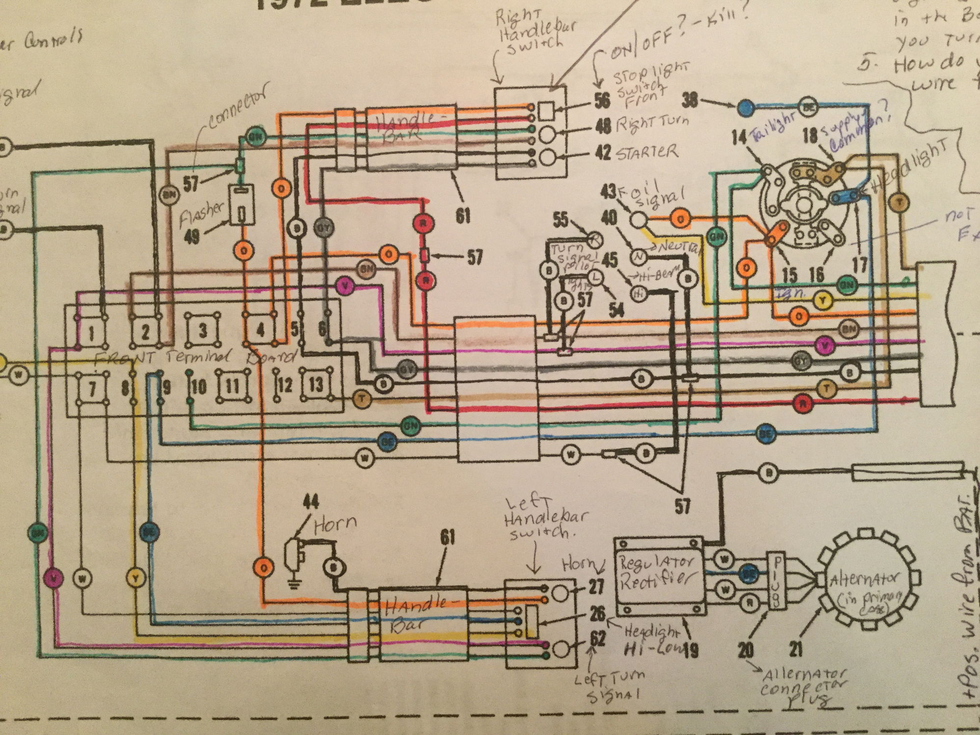 72 flh wiring questions harley davidson forums